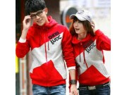 Couple Jaket Qing Red Grey