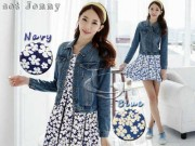 Jenny Dress + jaket Jeans