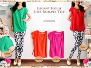 Side Rumple Top Blouse