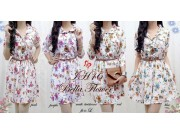 Bella Flower Dress + belt