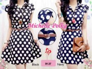 IH27 Polka Dress +belt