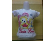 Kaos Twin Bear Putih 1-3 SERI