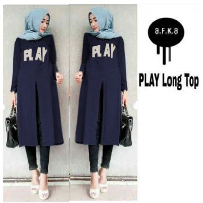 Play Long Top tanpa pasmina